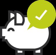 icon of a piggy bank